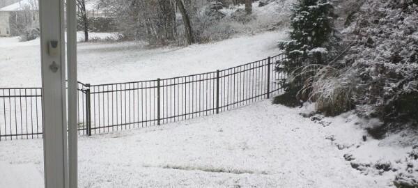 Snowing in November